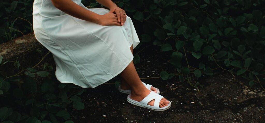 chanclas blancas de mujer