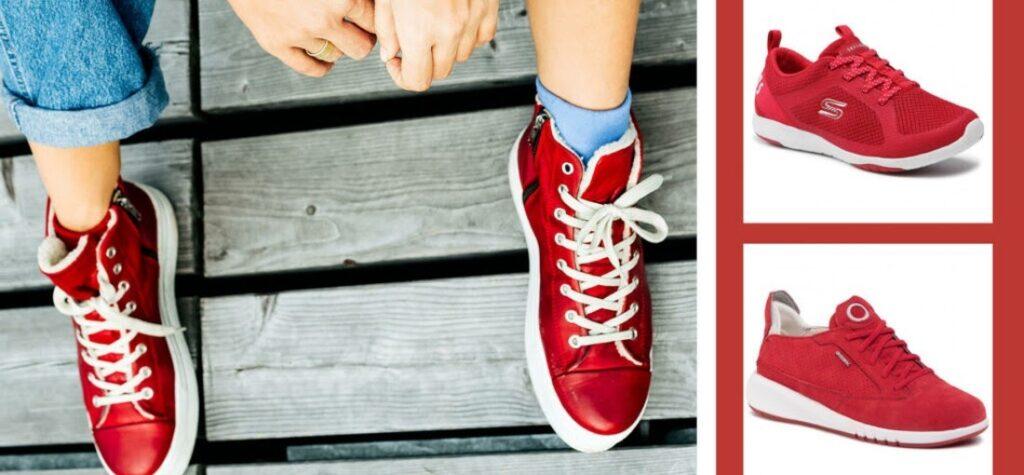sneakers de mujer rojos